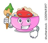 artist character a bowl of... | Shutterstock .eps vector #1200969397