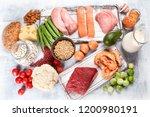 balanced diet food background.... | Shutterstock . vector #1200980191
