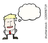cartoon man with thought bubble | Shutterstock .eps vector #120098719