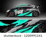 racing car wrap design vector....   Shutterstock .eps vector #1200991141