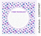 cyber technology concept with... | Shutterstock .eps vector #1200993487
