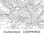 black and white vector city map ... | Shutterstock .eps vector #1200994831