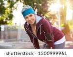 senior active woman completing... | Shutterstock . vector #1200999961