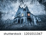 Small photo of Old haunted abandoned house