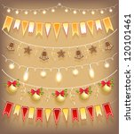 collection christmas garland.... | Shutterstock .eps vector #120101461
