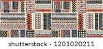 tribal vector ornament.... | Shutterstock .eps vector #1201020211