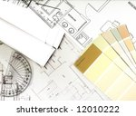 color swatches and plans | Shutterstock . vector #12010222