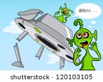 funny comic story about aliens. | Shutterstock . vector #120103105