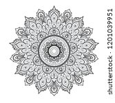 mandala. beautiful vintage... | Shutterstock .eps vector #1201039951