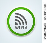 wi fi 6 generation button... | Shutterstock .eps vector #1201048231