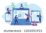 concept blogging  education ... | Shutterstock .eps vector #1201051921