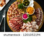 sliced from different types of... | Shutterstock . vector #1201052194