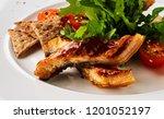 sliced eel in flavored soy... | Shutterstock . vector #1201052197