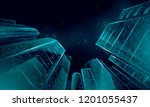 polygonal low angle business... | Shutterstock .eps vector #1201055437