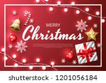 merry christmas background with ... | Shutterstock .eps vector #1201056184