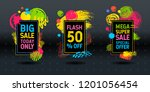 mega super big flash sale brush ... | Shutterstock .eps vector #1201056454