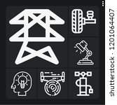 set of 6 power outline icons... | Shutterstock .eps vector #1201064407