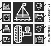 10 travel  outline style icons... | Shutterstock .eps vector #1201065421