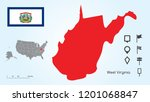 map of the united states of... | Shutterstock .eps vector #1201068847