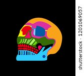 day of the dead colorful skull... | Shutterstock .eps vector #1201069057
