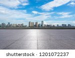 empty square with city skyline  ... | Shutterstock . vector #1201072237