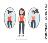 woman with bipolar mental... | Shutterstock .eps vector #1201075561