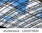 outdoor daytime blue sky roof... | Shutterstock . vector #1201075834