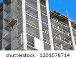 building construction site work ... | Shutterstock . vector #1201078714
