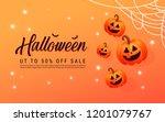 halloween template banner. ...   Shutterstock .eps vector #1201079767