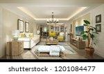 3d render of modern living room | Shutterstock . vector #1201084477