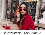 amazing white girl in trendy... | Shutterstock . vector #1201090987