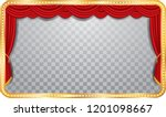 vector wide stage with red...   Shutterstock .eps vector #1201098667