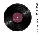 vinyl shop label. vector... | Shutterstock .eps vector #1201112941