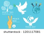 international day of peace... | Shutterstock .eps vector #1201117081