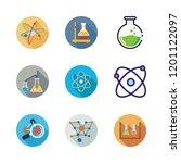 chemistry icon set. vector set...   Shutterstock .eps vector #1201122097