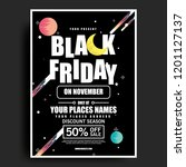 simple black friday poster with ...   Shutterstock .eps vector #1201127137