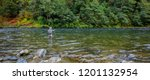 Fly fisherman spey casting for...