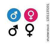illustration of gender | Shutterstock .eps vector #1201135201