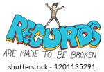 an image of a records are made... | Shutterstock .eps vector #1201135291