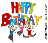 an image of a happy birthday... | Shutterstock .eps vector #1201135324