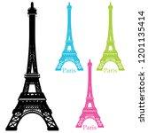 an image of a eiffel tower... | Shutterstock .eps vector #1201135414