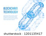 block chain. crypto currency.... | Shutterstock .eps vector #1201135417