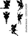 fairy silhouette | Shutterstock .eps vector #120114109