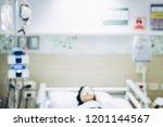 blurred patient in hospital... | Shutterstock . vector #1201144567