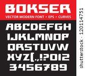 bokser vector modern font.... | Shutterstock .eps vector #120114751