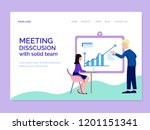 landing page template with... | Shutterstock .eps vector #1201151341