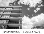 abstract modern architectural... | Shutterstock . vector #1201157671