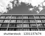 abstract modern architectural... | Shutterstock . vector #1201157674