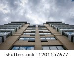 abstract modern architectural... | Shutterstock . vector #1201157677