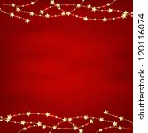 Xmas Red Retro Background With...